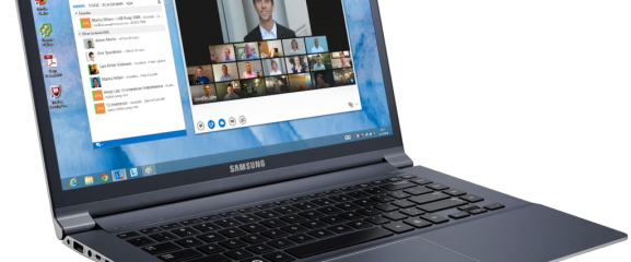 Laptop with MS Lync and VCEverywhere